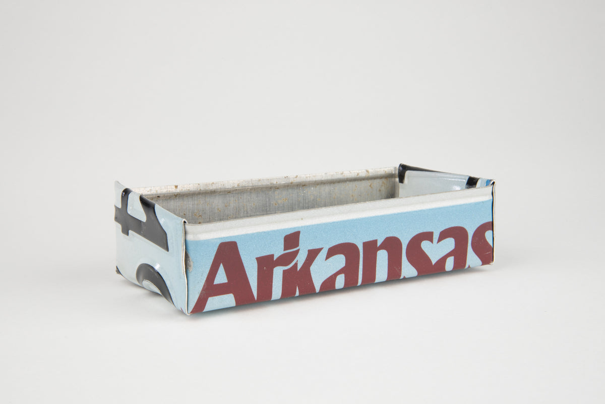 ARKANSAS TRAY  Recycled License Plate Art - Unique Pl8z