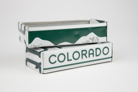 Colorado license plate box - Colorado Souvenir  Recycled License Plate Art - Unique Pl8z