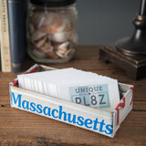 Connecticut license plate box - Connecticut Souvenir  Recycled License Plate Art - Unique Pl8z