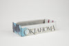 OKLAHOMA TRAY  Recycled License Plate Art - Unique Pl8z