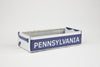PENNSYLVANIA TRAY  Recycled License Plate Art - Unique Pl8z
