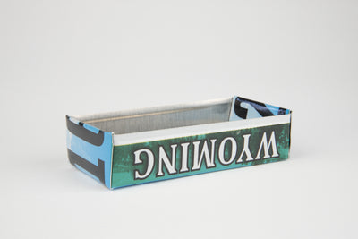 WYOMING TRAY  Recycled License Plate Art - Unique Pl8z