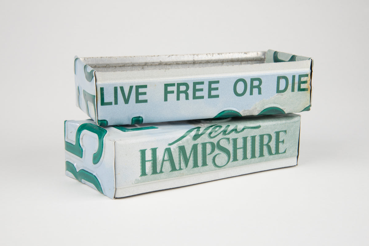 NEW HAMPSHIRE TRAY  Recycled License Plate Art - Unique Pl8z