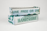 New Hampshire license plate box - New Hampshire Souvenir  Recycled License Plate Art - Unique Pl8z