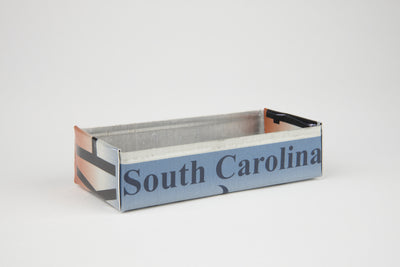 SOUTH CAROLINA TRAY  Recycled License Plate Art - Unique Pl8z