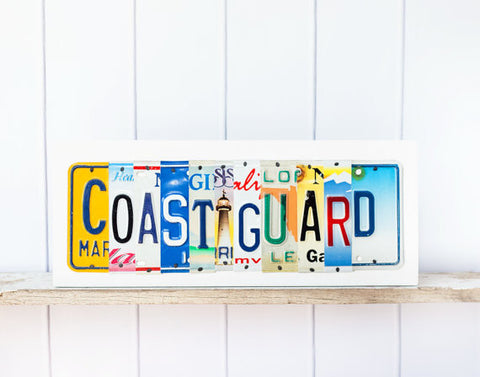 COAST GUARD License Plate Sign by Unique Pl8z  Recycled License Plate Art - Unique Pl8z