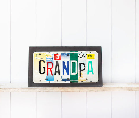 GRANDPA license plate art by Unique Pl8z  Recycled License Plate Art - Unique Pl8z