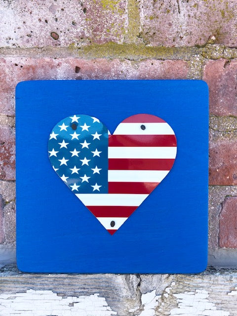 U.S. FLAG HEART - Unique Pl8z