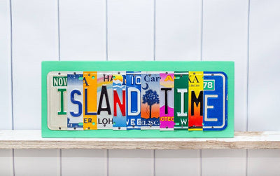 Custom Order - 10 letter sign - you choose the letters  Recycled License Plate Art - Unique Pl8z