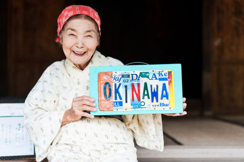 OKINAWA sign - Okinawa Art - Okinawa License Plate Art  Recycled License Plate Art - Unique Pl8z