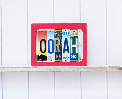 OORAH by Unique Pl8z  Recycled License Plate Art - Unique Pl8z