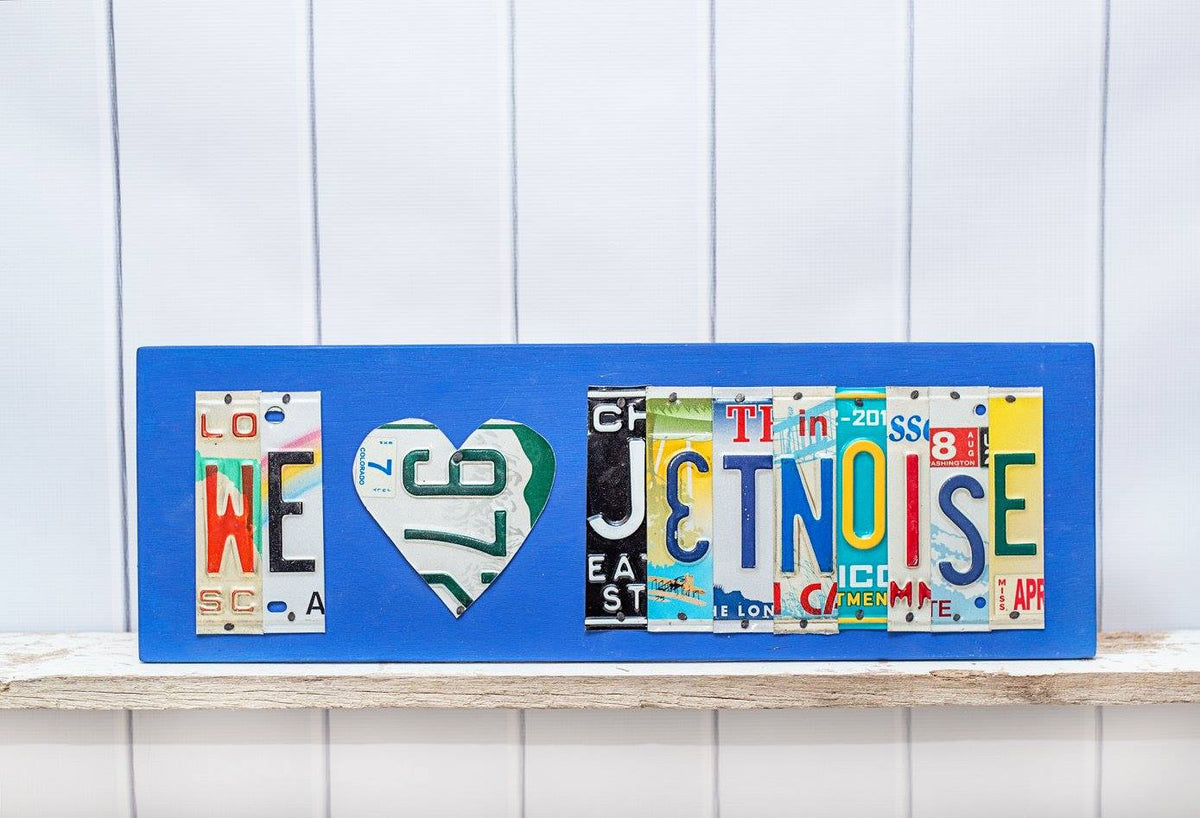 WE HEART JETNOISE by Unique Pl8z  Recycled License Plate Art - Unique Pl8z