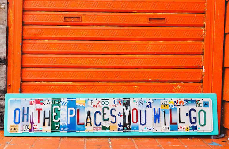 oh the places you will go license plate sign by unique pl8z