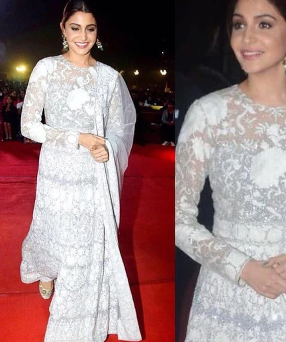 Bollywood A list actress, Anushka Sharma spotted in indian luxury designer shoe brand needledust