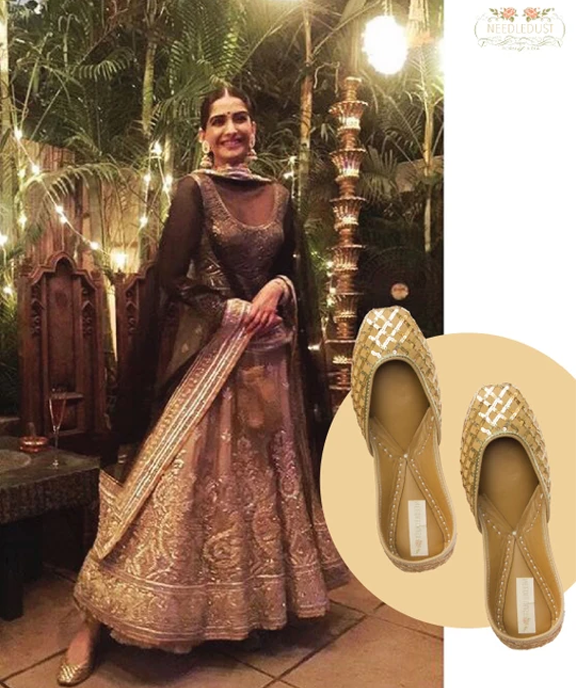 Bollywood actresss, Sonam Kapoor spotted in indian shoe brand needledust
