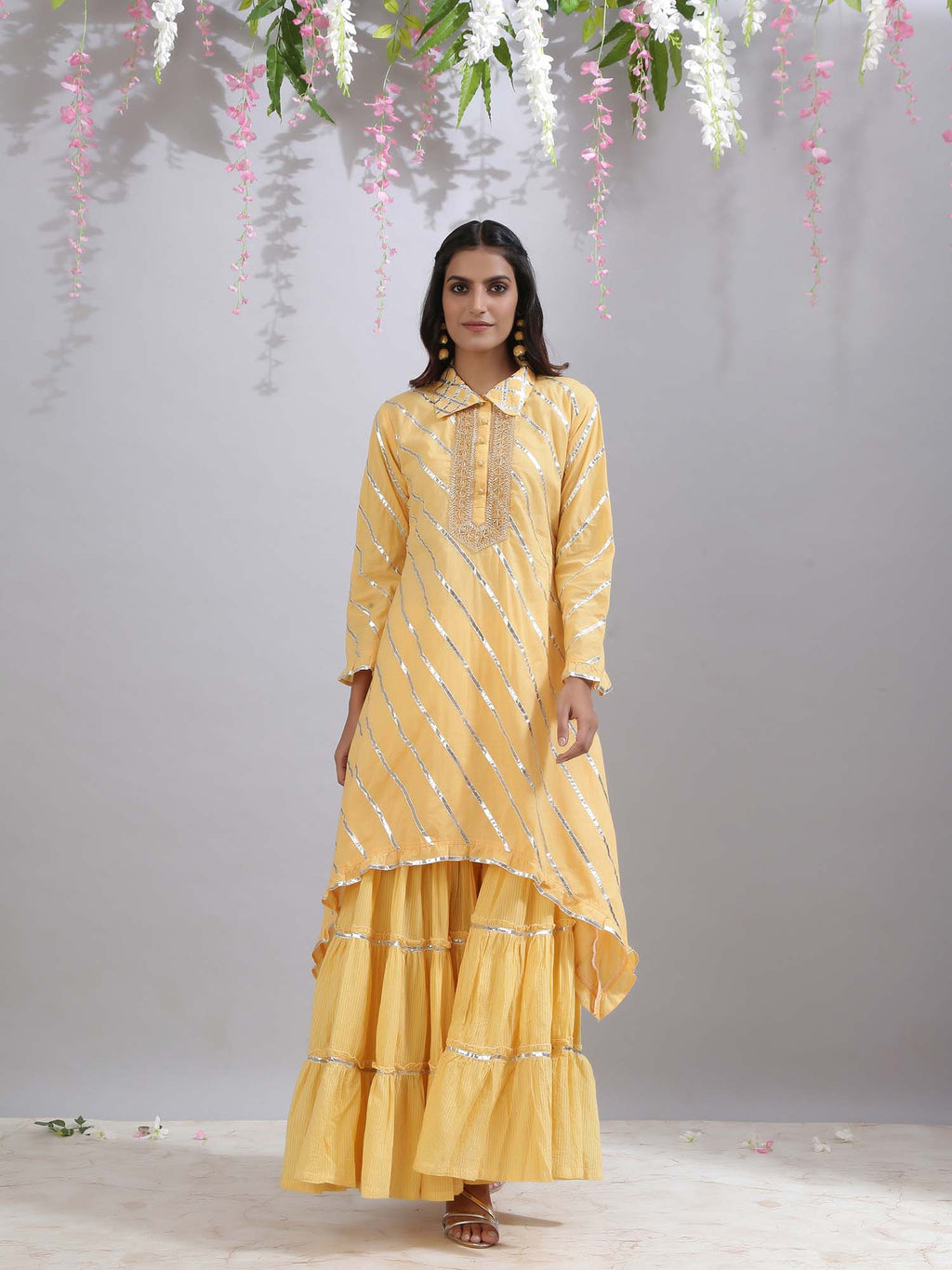 Amber Yellow Sharara - Riviera Closet
