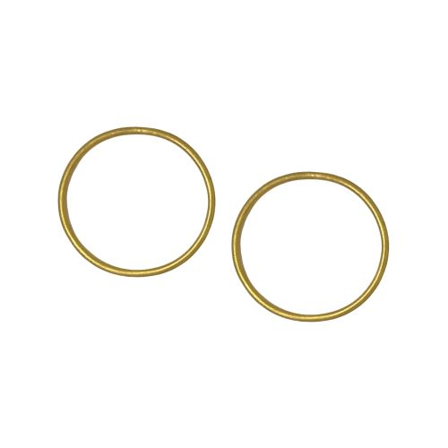 Classic Light Gold Plated Hoop Earrings - Riviera Closet