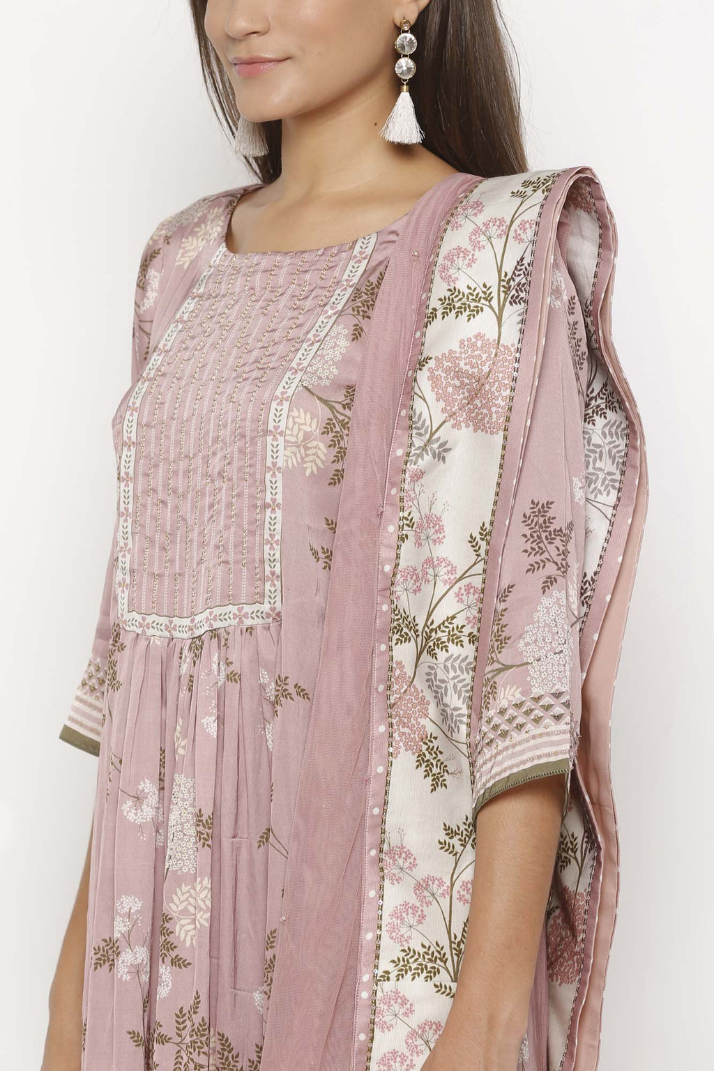 Printed Pink Colour Kurta Set - Riviera Closet