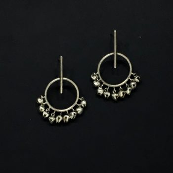 Stick & Circle Ghungroo Earrings - Riviera Closet