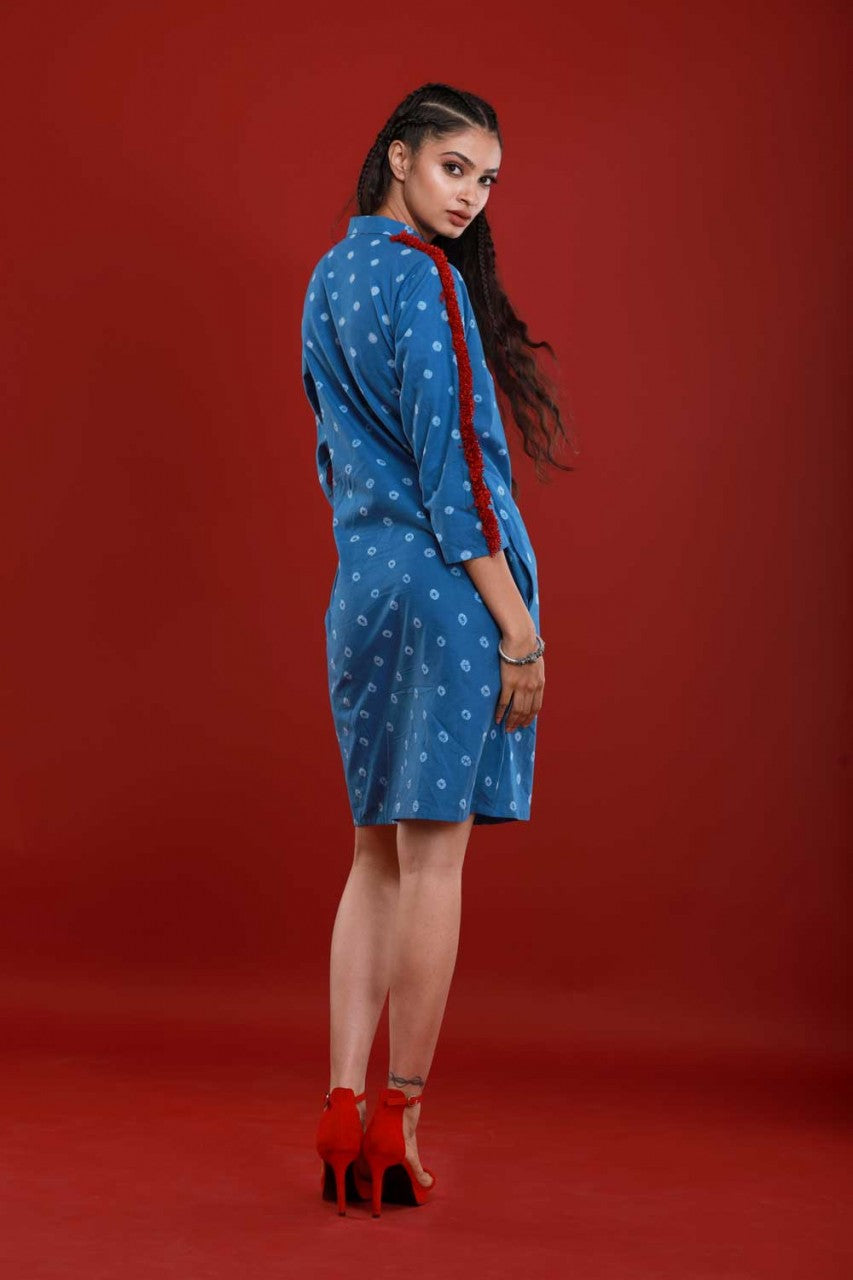 Bandhej Shirt Dress - Riviera Closet