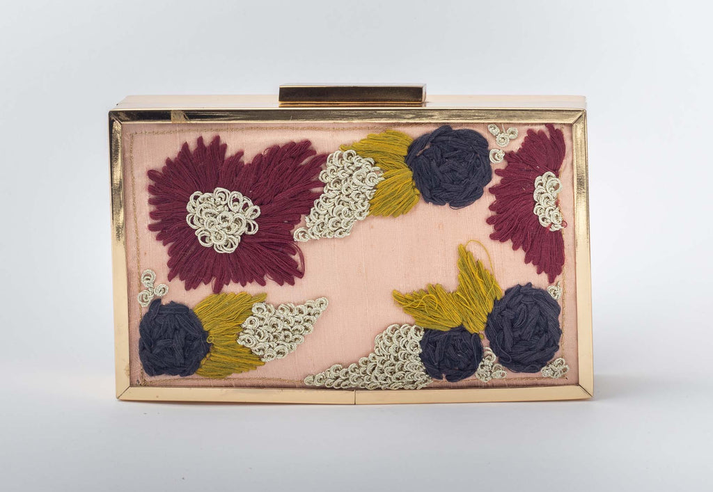 Threads and Knots Pink Clutch - Riviera Closet