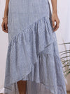 Ivory and Blue Ciel Skirt - Riviera Closet