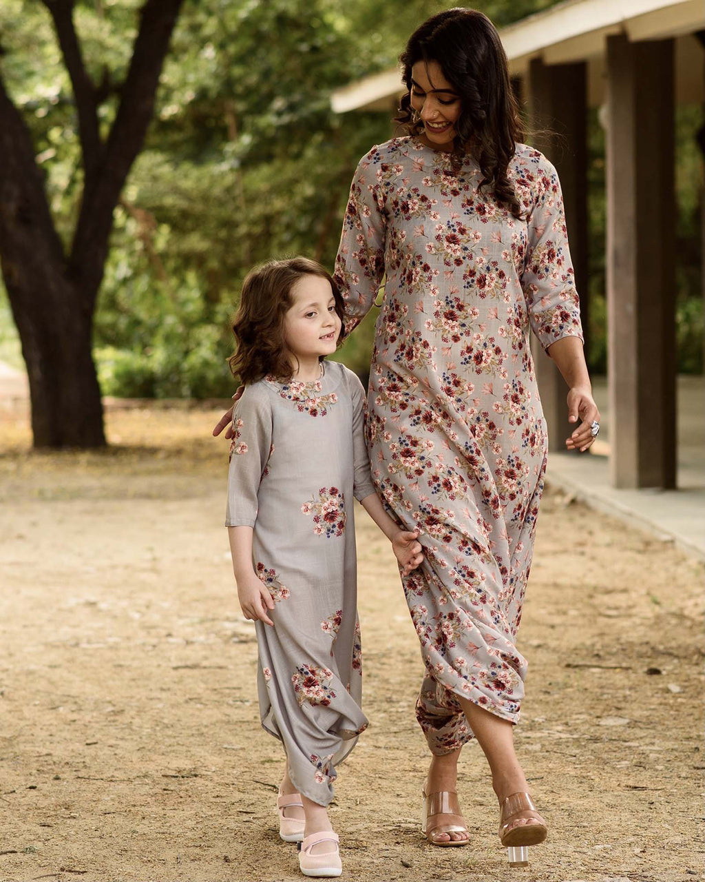 Mother Daughter Laurel Green Dhoti Jumpsuits - Riviera Closet