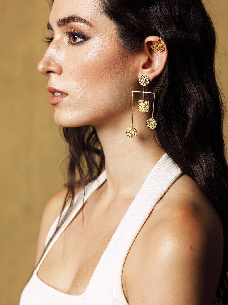 Mudra Waterfall Earrings - Riviera Closet