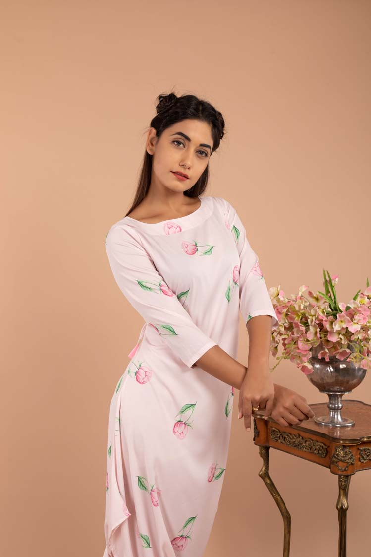 Light Hearted Pink Dhoti Jumpsuit - Riviera Closet