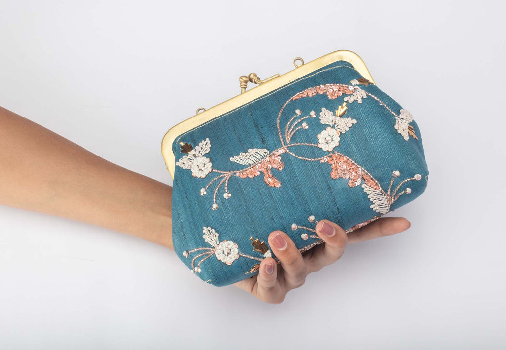 Shehajadi French Knot Clutch - Riviera Closet