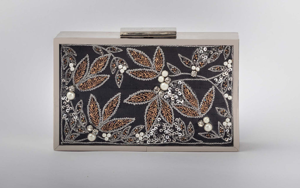 Black Safari Box Clutch - Riviera Closet