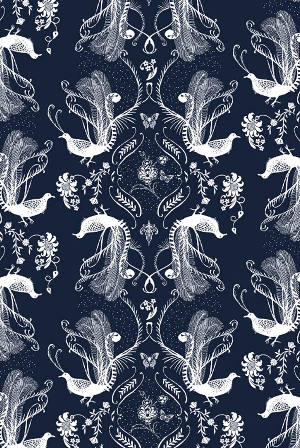 Navy Colour Printed Silkmul Pocket Square - Riviera Closet