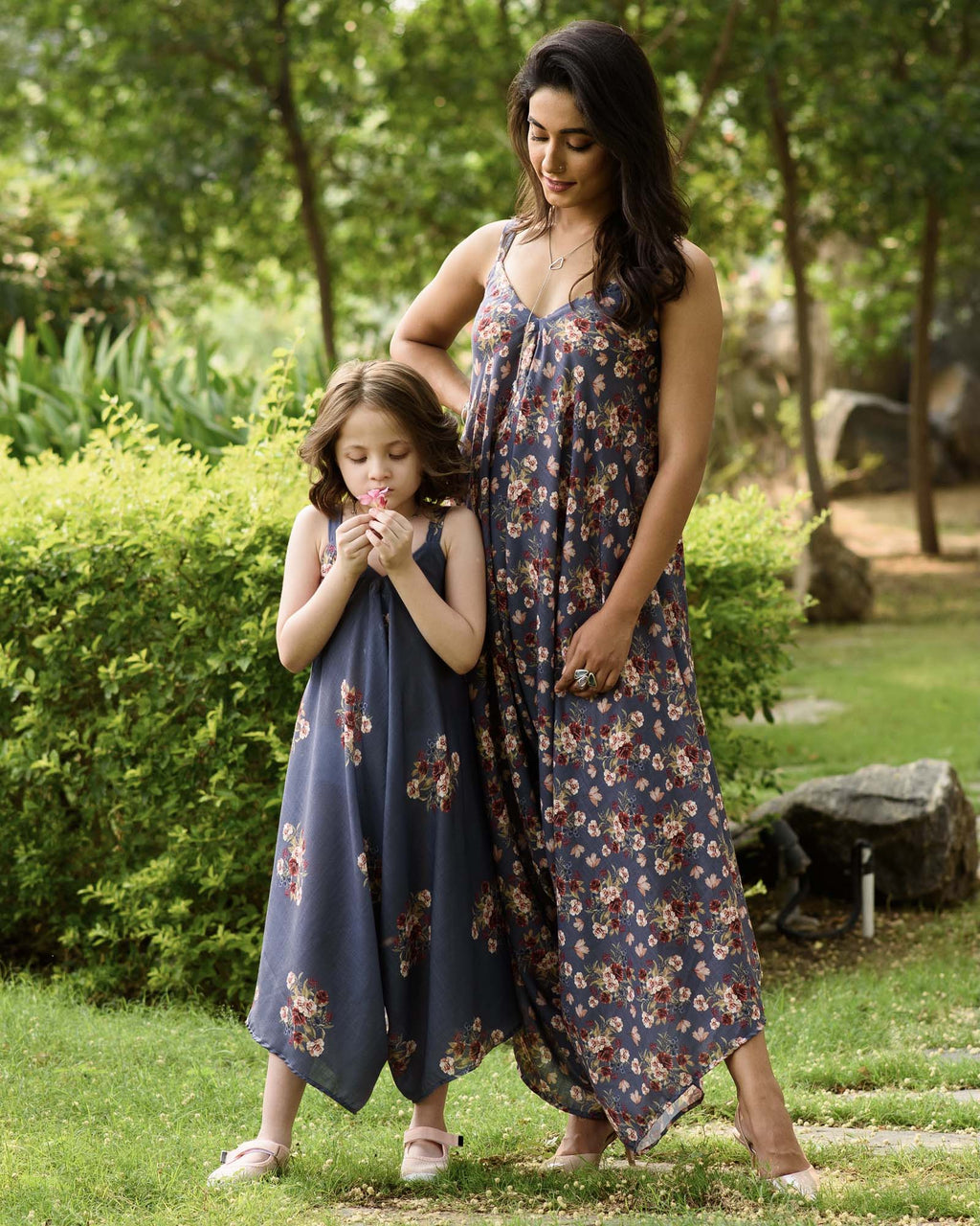 Mother Daughter Persian Blue Palazzo Jumpsuits - Riviera Closet