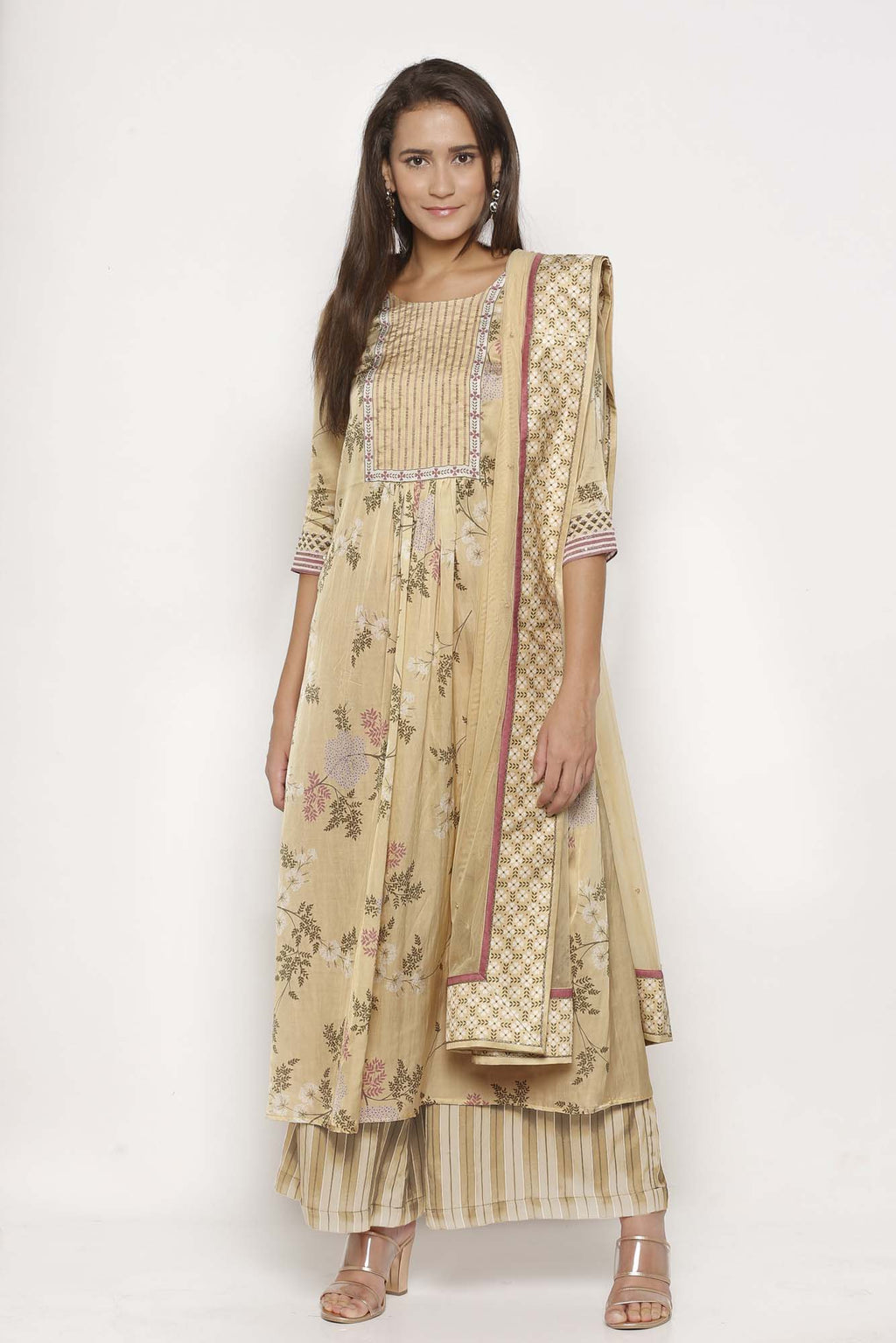 Printed Yellow Colour Kurta Set - Riviera Closet