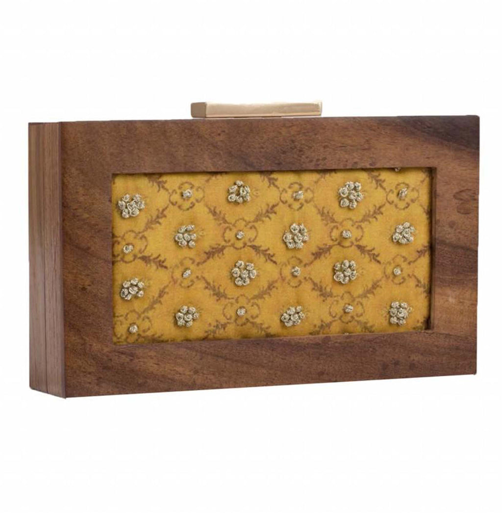 Musterd Yellow Customized Print Clutch - Riviera Closet
