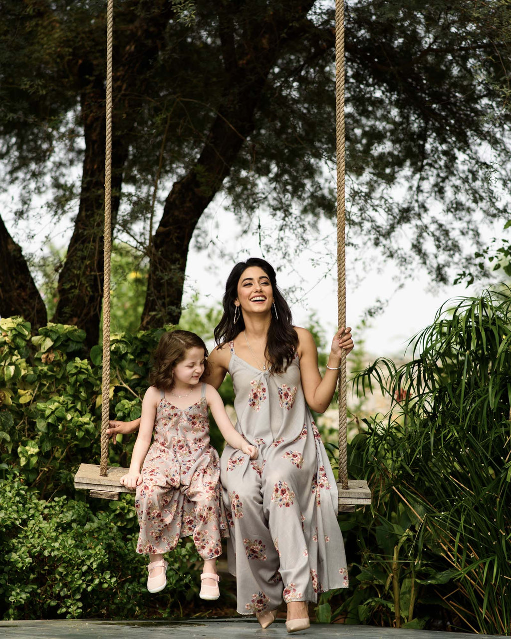 Mother Daughter Laurel Green Palazzo Jumpsuits - Riviera Closet