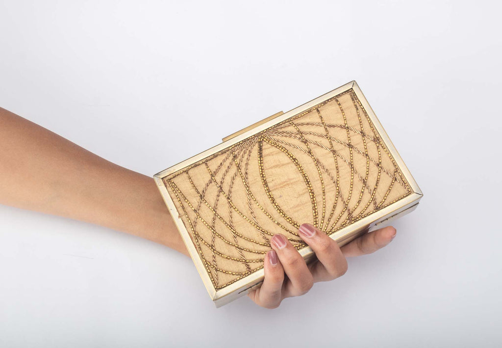 Dream Catcher Gold Clutch - Riviera Closet