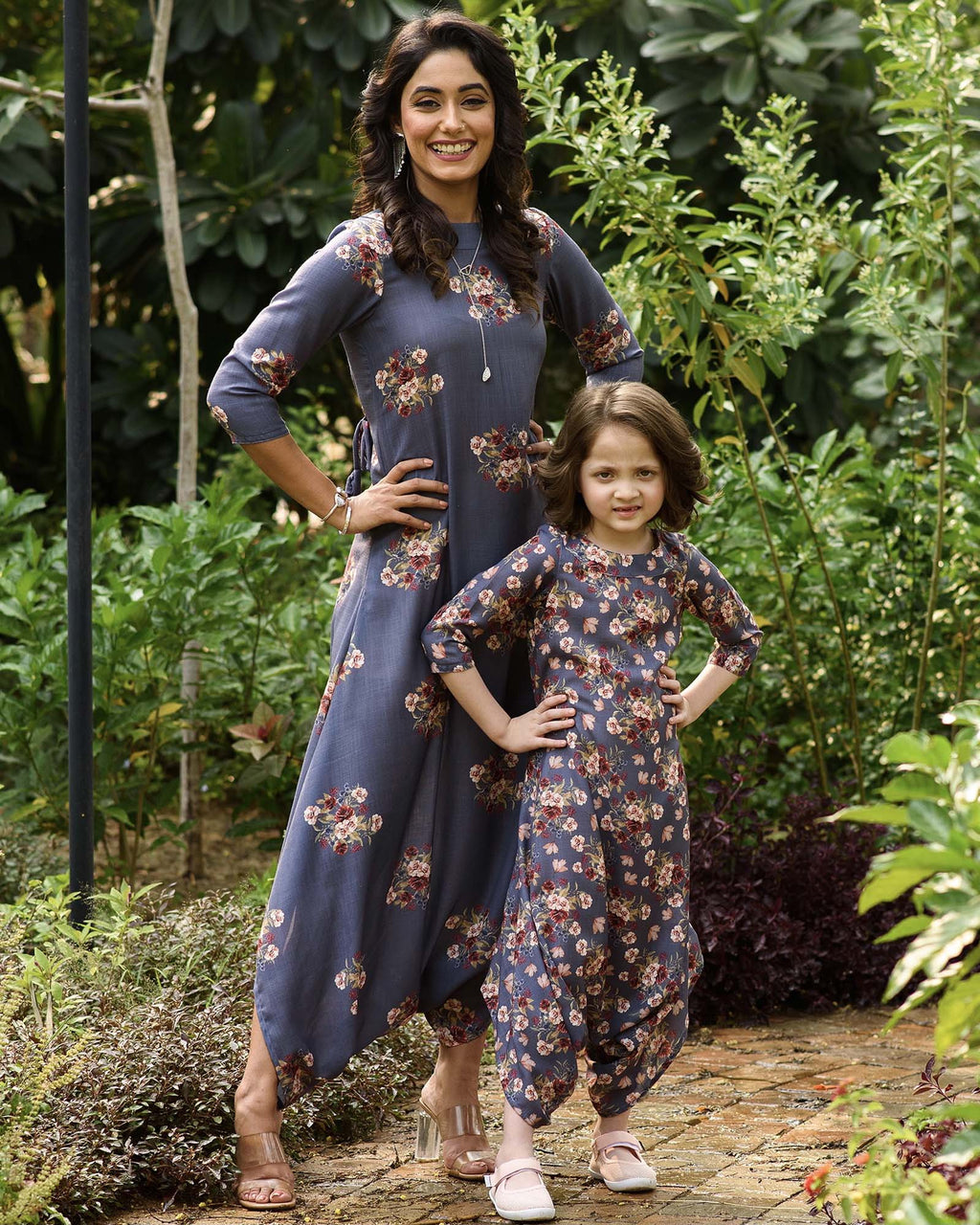 Mother Daughter Persian Blue Dhoti Jumpsuits - Riviera Closet
