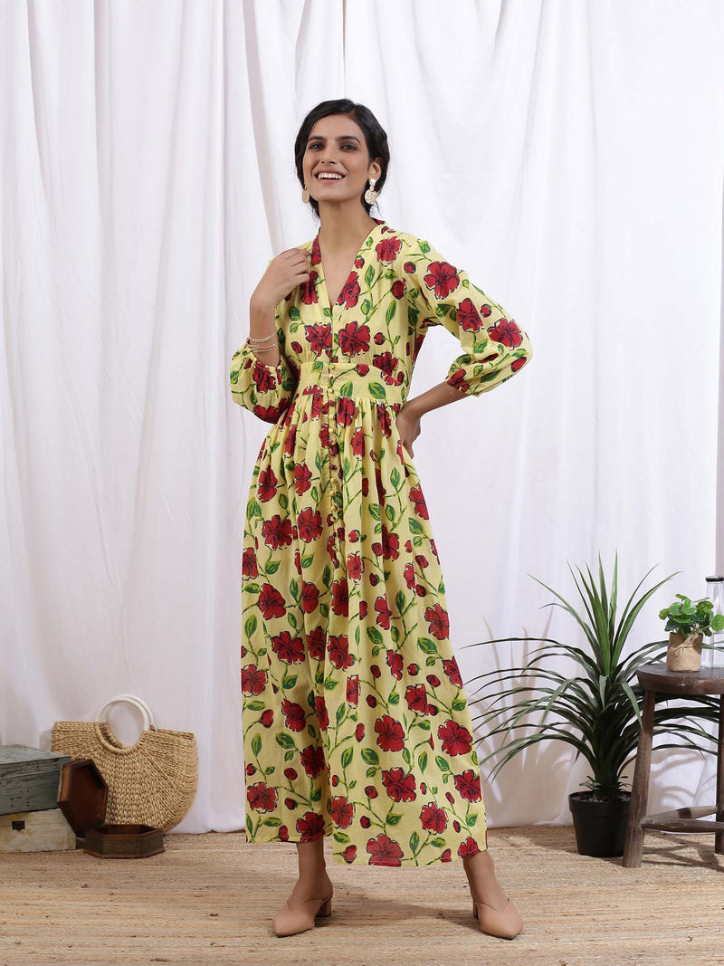 Multi Colour Jardin Dress - Riviera Closet