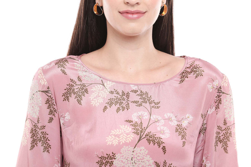 Floral Printed Top with Palazzo - Riviera Closet