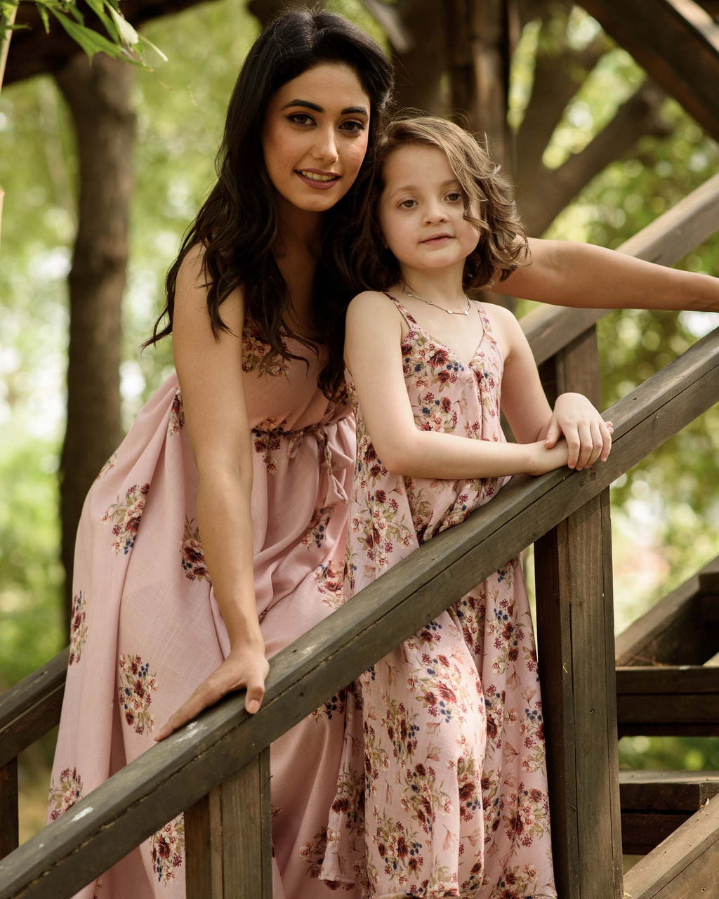 Mother Daughter Carnation Pink Palazzo Jumpsuits - Riviera Closet