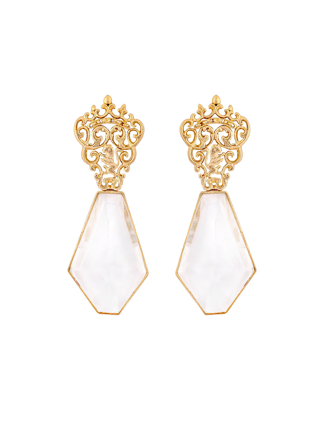 Marguerite Crystal Earrings - Riviera Closet