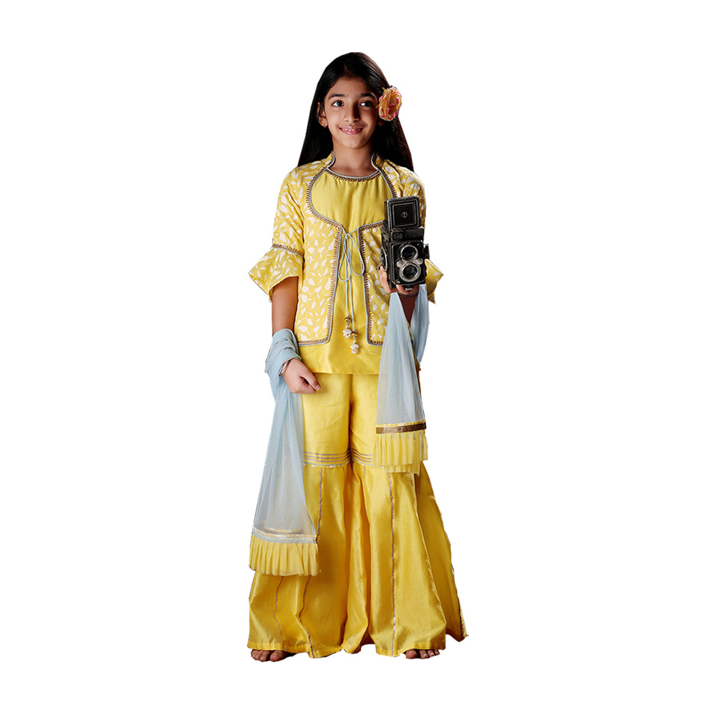 Belle Yellow Sharara Set - Riviera Closet