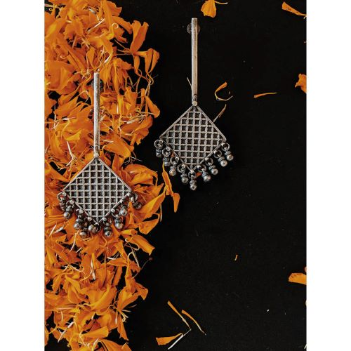 Virasat Checkered Stick Earrings - Riviera Closet