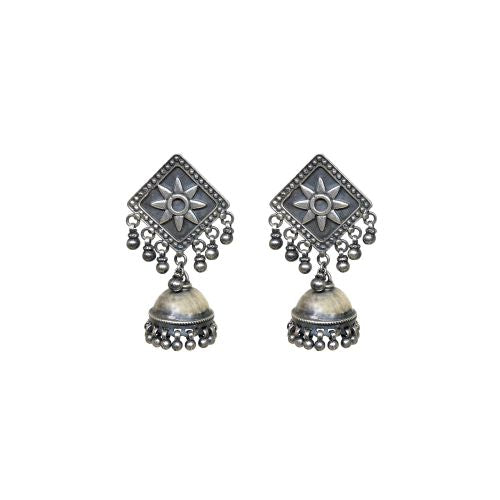 Virasat Geometric Flora Single Jhumki - Riviera Closet