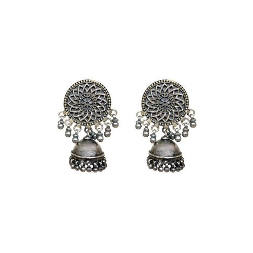 Virasat Silver Bloom Single Jhumki - Riviera Closet