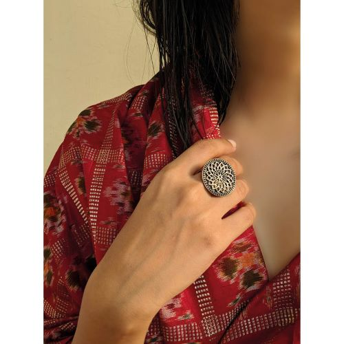 Virasat Silver Bloom Ring - Riviera Closet