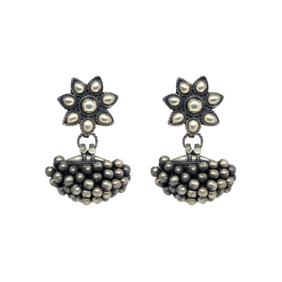 Virasat Floral Ghunghroo Bunch Earrings - Riviera Closet
