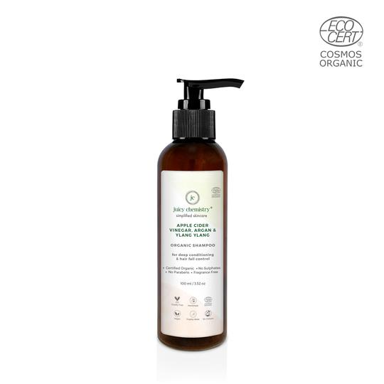 Apple Cider Vinegar, Argan & Ylang Ylang Organic Shampoo - 200ml - Riviera Closet