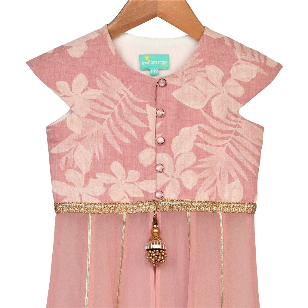 Dusty Rose Anarkali Set - Riviera Closet